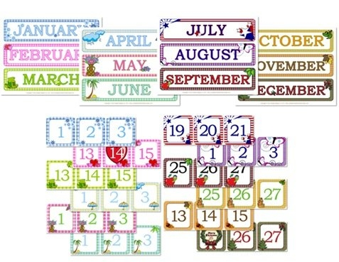 Gingham Calendar Day & Month Printables - Confessions Of A for Fun Free Printable Shorttime Calendars