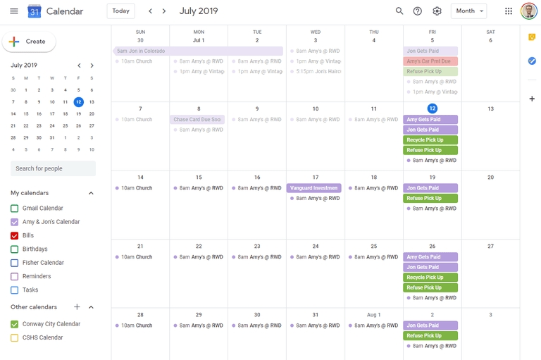 Google Calendar - Google Search In 2020 | Free Online within Free Color Coded Calendar Template