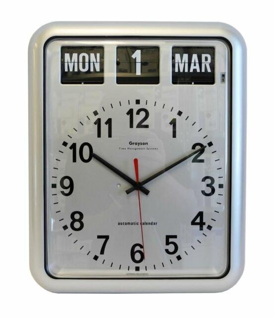 Grayson Digital Silver Easy To Read Alzheimer'S Dementia Calendar Clock -  G237A^ intended for Alzheimer'S Calendar Clock Graphics