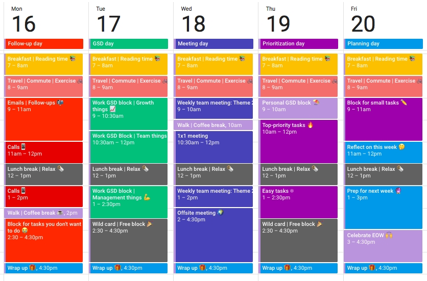 How A Color Coded Calendar Helps You Conquer Your Day (Easy with Color Coded Schedule