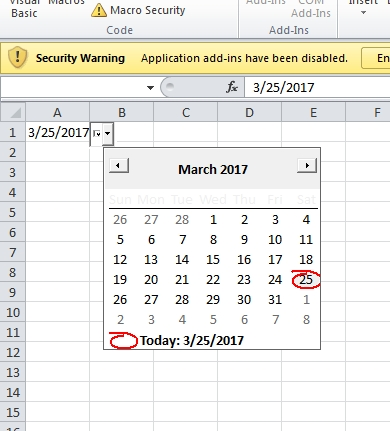 How To Add A Datepicker (Calendar) To Excel Cells with regard to Excel Date Picker Image