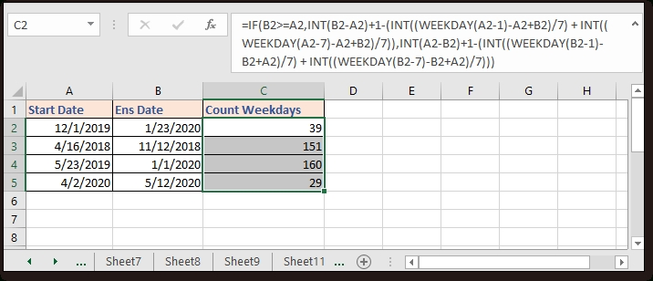 How To Add Days To Date Including Or Excluding Weekends And inside Calendar Without Weekends Photo