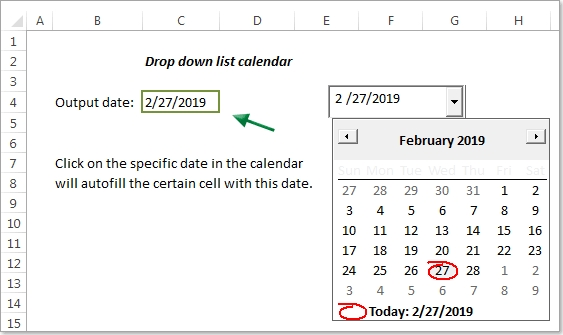 How To Create A Drop Down List Calendar (Date Picker) In Excel? inside How To Add A Drop Down Calendar Into Multiple Cells