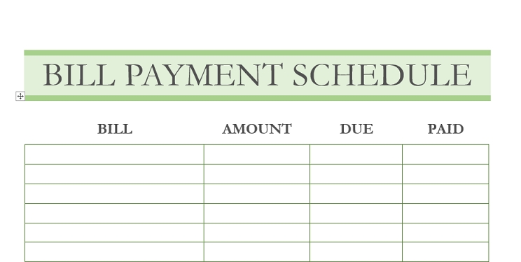 How To Create A Monthly Bill Payment Schedule (Free with Guess The Due Date Calendar Template Free