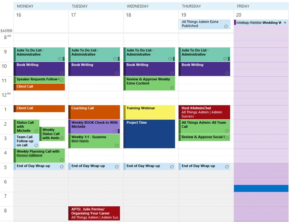 How To Develop A Color Code For Better Organization | All in Monthly Color Coded Schedule Photo