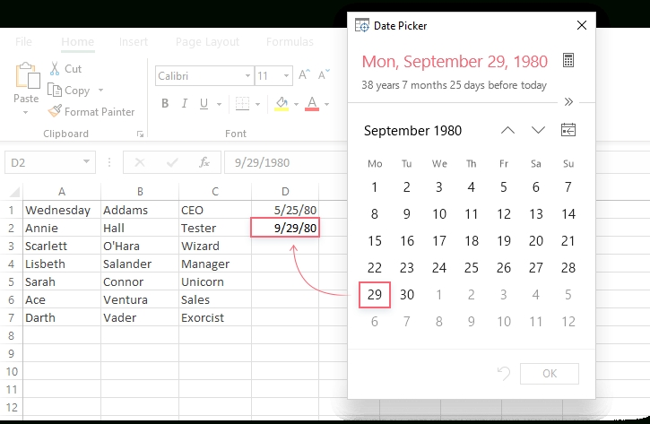 How To Insert Calendar In Excel (Date Picker & Printable for Excel Date Picker Image