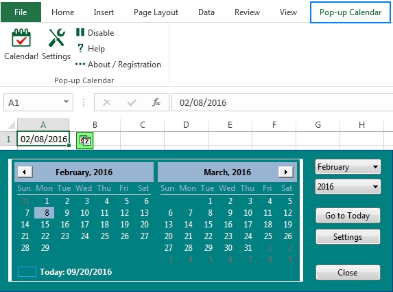 How To Insert Calendar In Excel (Date Picker & Printable regarding Calendar Drop Down In Excel