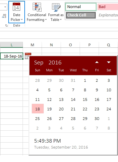 How To Insert Calendar In Excel (Date Picker & Printable with Drop Down Calendar In Excel Image