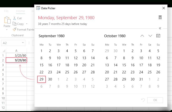 How To Insert Calendar In Excel (Date Picker & Printable within Print Calender Date Range Image