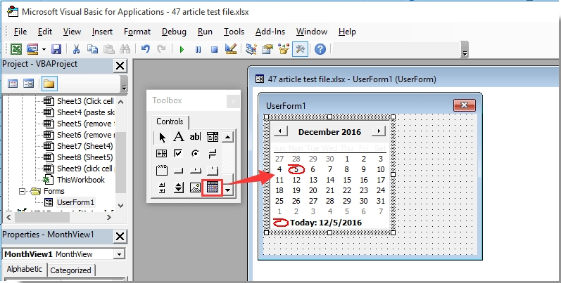 How To Pop Up A Calendar When Clicking A Specific Cell In Excel? with regard to Excel User Form Calendar Photo