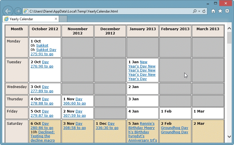 How To View A Yearly Calendar pertaining to Outlook Print Annual Calendar