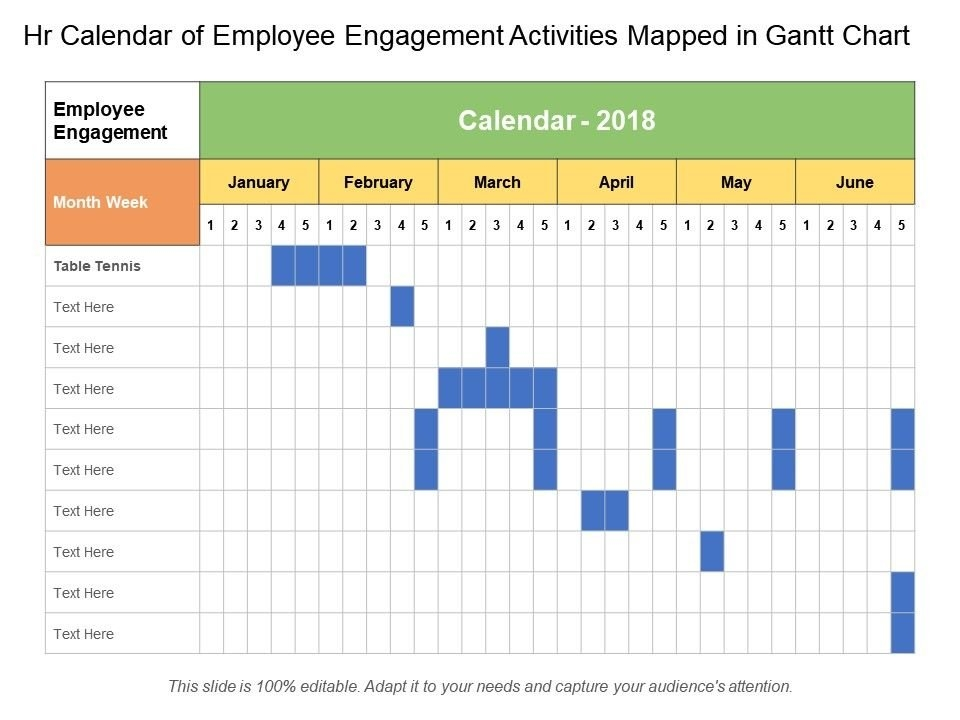 Hr Calendar Of Employee Engagement Activities Mapped In in Human Resources Annual Calendar Template Image