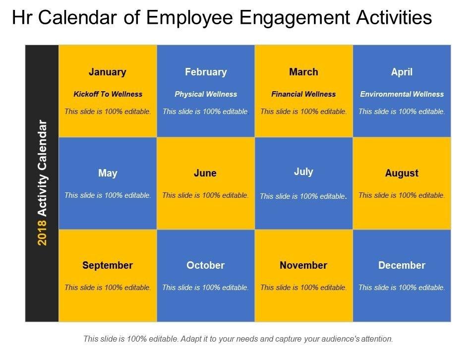 Hr Calendar Of Employee Engagement Activities | Powerpoint intended for Hr Calendar Sample Photo