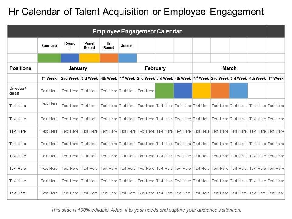 Hr Calendar Of Talent Acquisition Or Employee Engagement for Hr Calendar Sample Photo