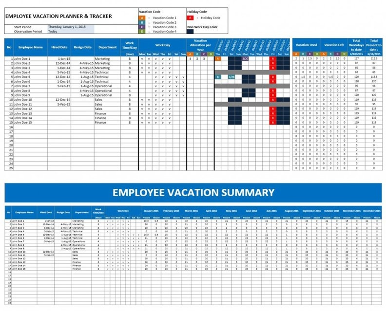 Hr Templates » The Spreadsheet Page in Human Resource Calendar Template Photo