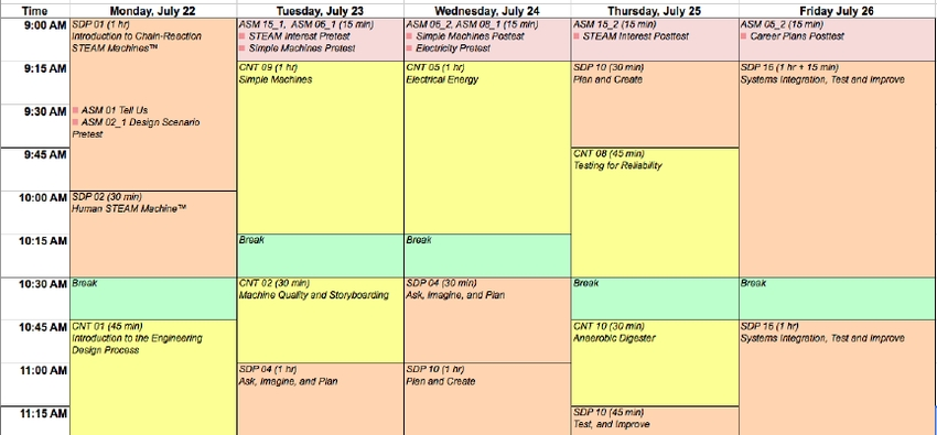 In The Color-Coded Schedule, Most Of The Sessions, Shown In for Color Coded Schedule Image