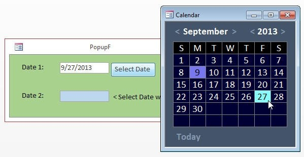 Including A Calendar In Ms Access – A Primer - Data Recovery regarding Calendar For Ms Access For Schedule Image