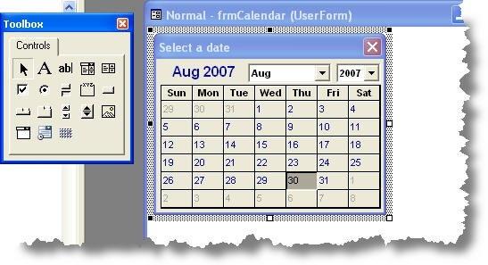 Insert A Date with regard to Vba Userform Calendar Graphics