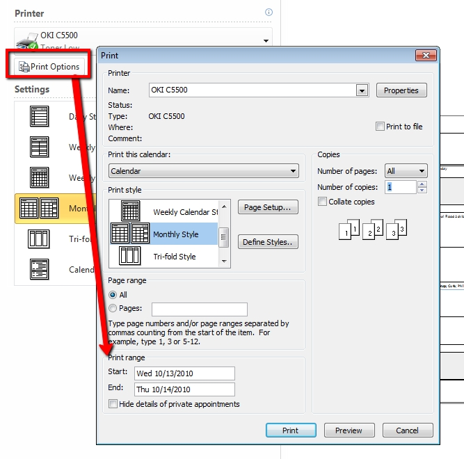 Is There An Easy Way To Set The Date Range When Printing A throughout Print Calender Date Range