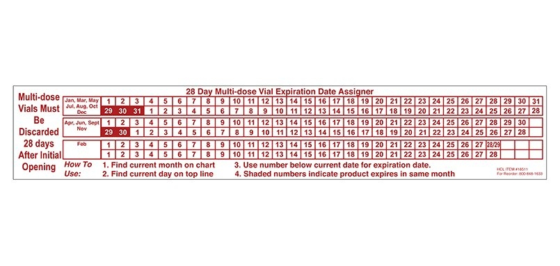 Item 18511 - 28-Day Multi-Dose Vial Expiration Date Assigner in 28 Day Multi-Dose Vial Calendar 2020 Photo