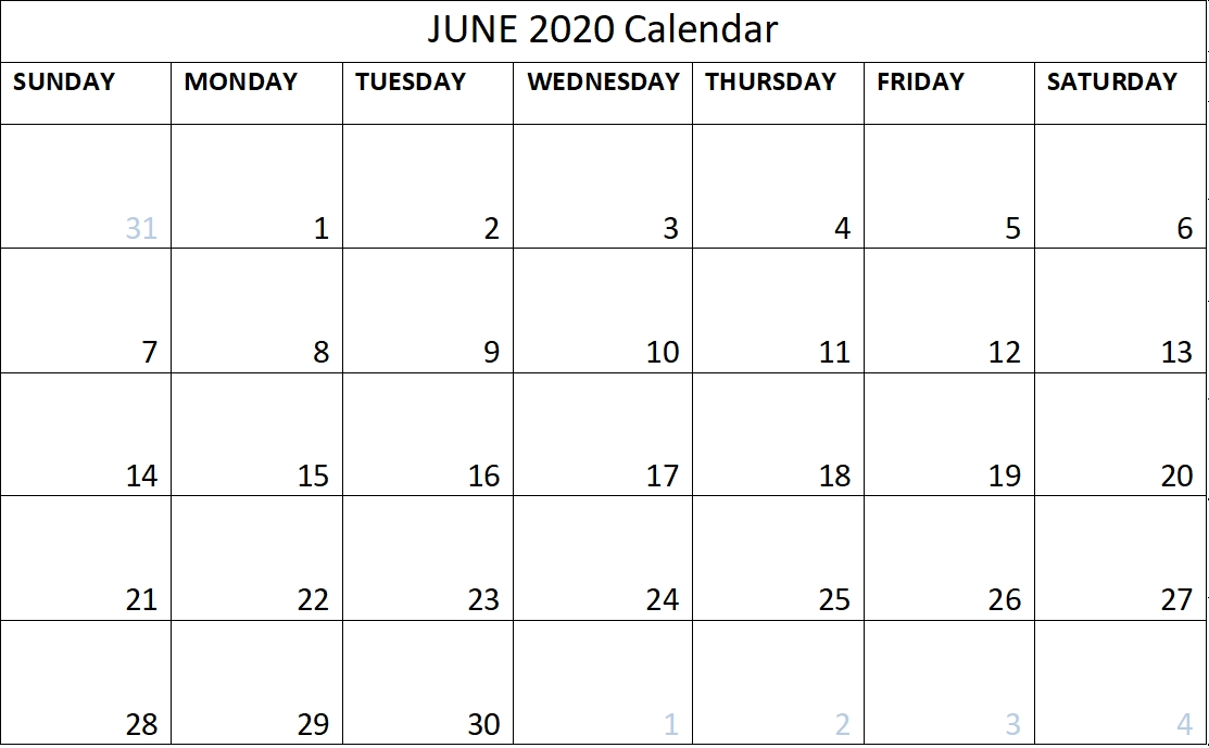 June 2020 Calendar Free Printable Monthly Planner – Free with June 2020 Calendar With Time Slots Photo