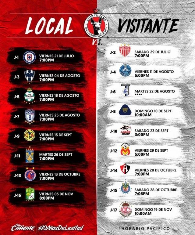 La Previa De Xolos Para El Apertura 2017 | Marca Claro México regarding Calendario Xolos Tijuana