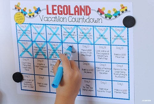 Legoland Countdown Calendar Printable in Vacation Countdown Calendar Printable