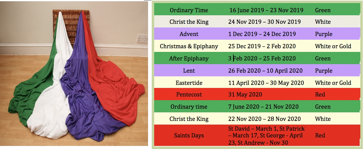 Liturgical Colours 2020 - Imaginor pertaining to 2020 Altar Cloth Color Schedule Calendar In The Methodist Church