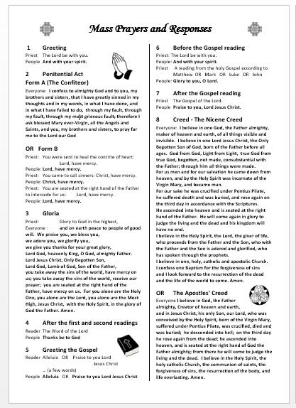 Liturgytools: Catholic Mass Prayers And Responses - Set pertaining to Printable Catholic Liturgal Photo