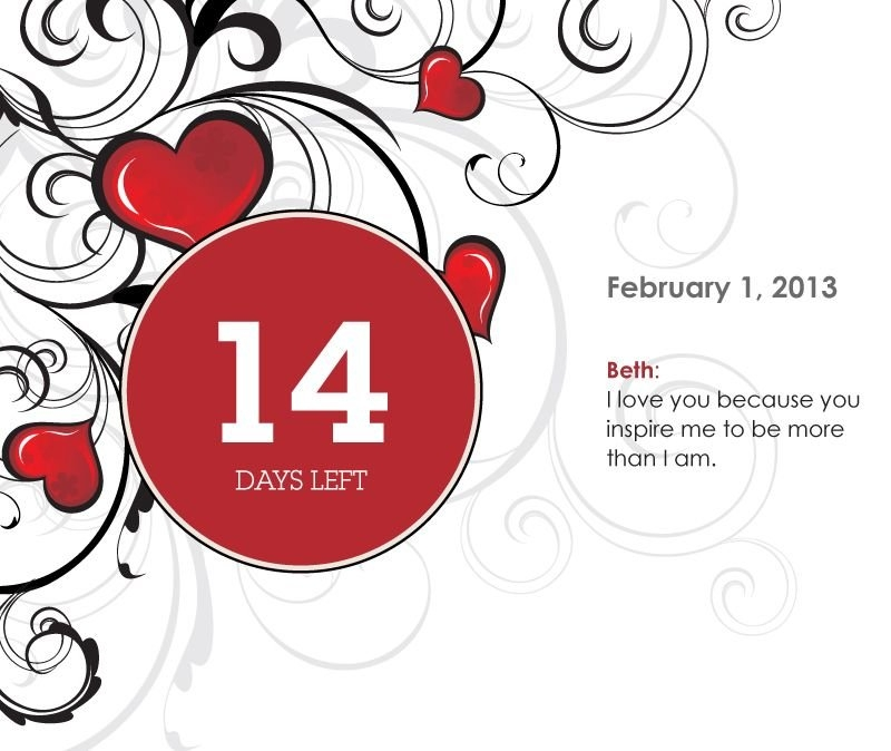 Make A Fully Personalized Countdown Calendar For You Loved pertaining to 31 Day Tear Off Countdown