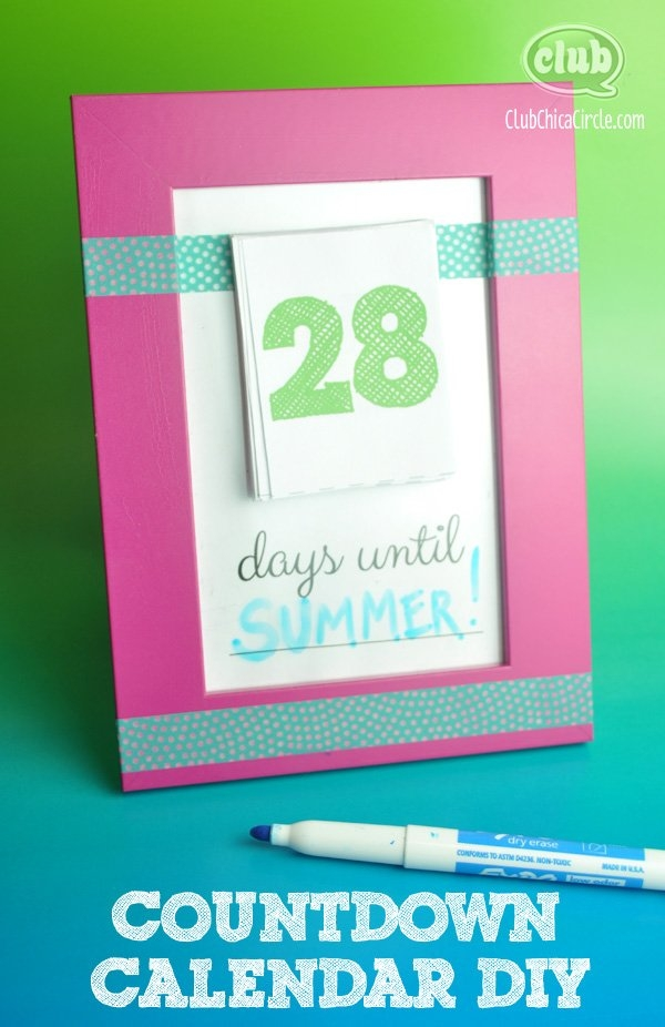 Make Your Own Countdown Calendar And Notepad in 31 Day Tear Off Countdown