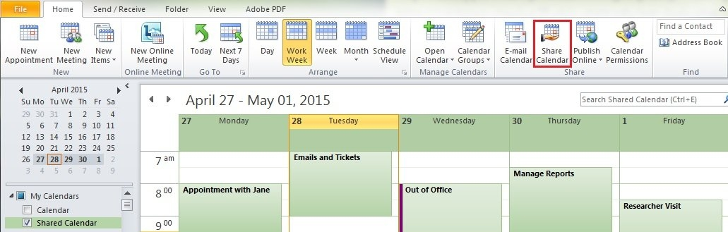 Managing Your Microsoft Outlook Calendar | Information throughout What Do Limited Calendar Details Look Like