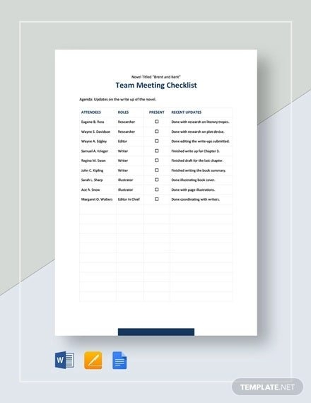 Meeting Checklist Template - 17+ Free Word, Pdf Documents inside Conference Room Template Samples