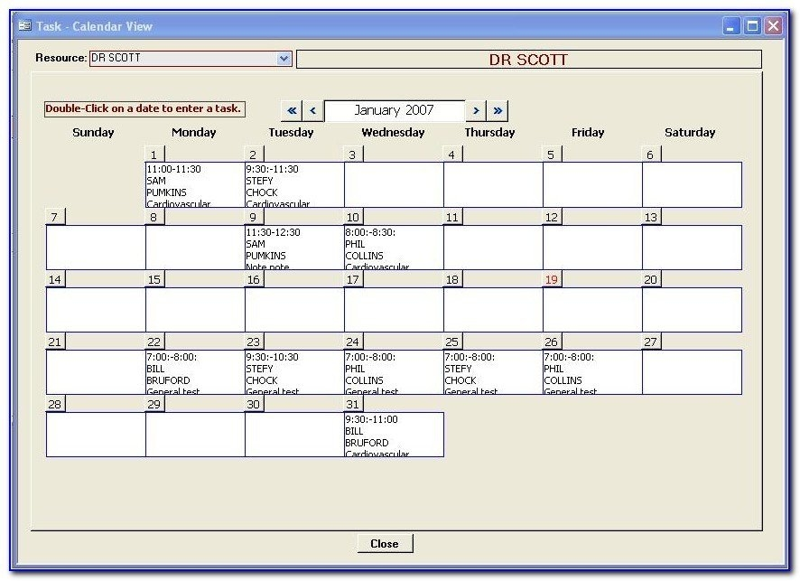 Microsoft Access Calendar Template Microsoft Access Schedule for Ms Access Calendar Template Free