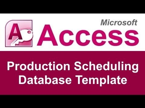 Microsoft Access Production Scheduling Database Template for Scheduling Ms Access Databaase Image