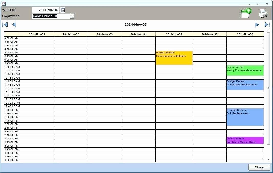 Microsoft Access Schedule Template Unique Microsoft Access with Calendar In Msaccess Template