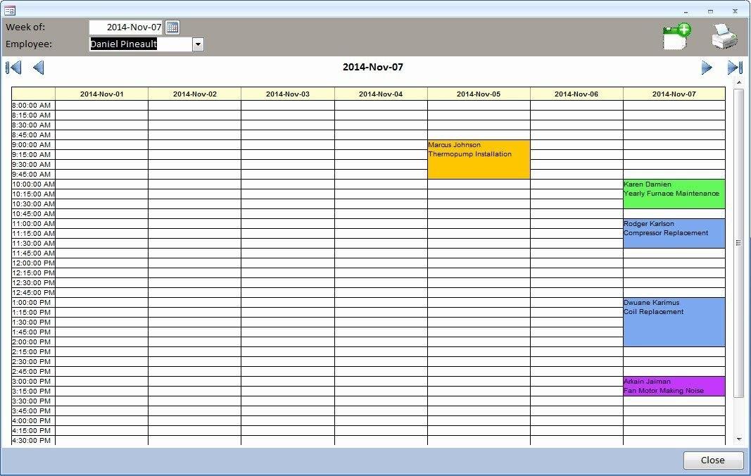 Microsoft Access Scheduling Template Inspirational Ms Access pertaining to Microsoft Access Schedulin/Calender  Templates