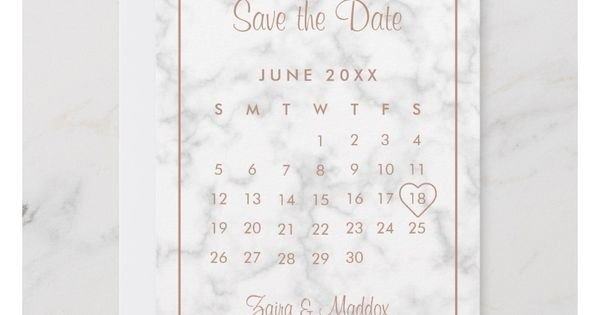 Modern Gray Marble And Rose Gold Calendar Save The Date inside No Frills Honor Calendar Graphics