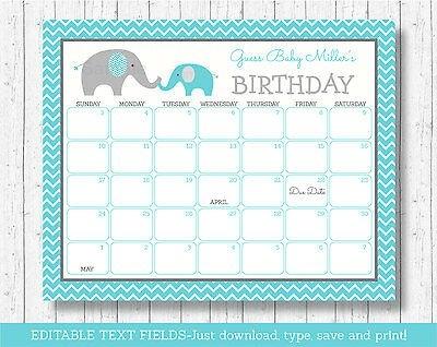 Modern Pink Chevron Printable Baby Due Date Calendar regarding Printable Guess Baby Date Image