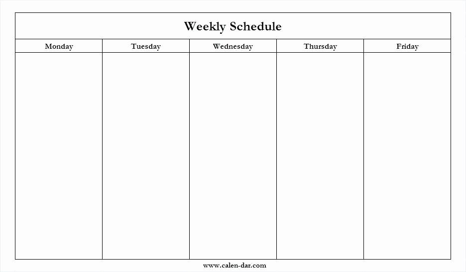 Monday Through Friday Hourly Calendar Awesome Mon Friday in Printable Calendars Monday Thru Sunday