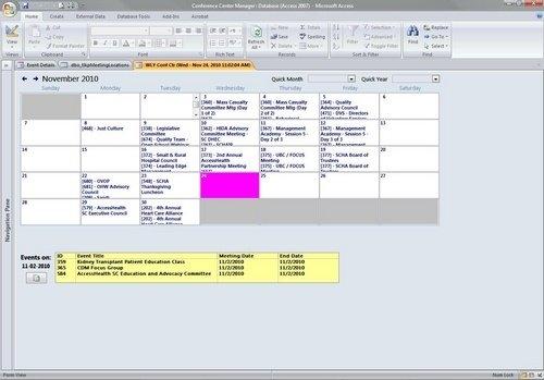 Ms Access Calendar - Page 7 - Microsoft Access / Vba within Microsoft Access Calendar Schedule Image