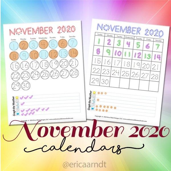 November 2020 Free Printable Calendars - Confessions Of A regarding Fun Free Printable Shorttime Calendars Graphics
