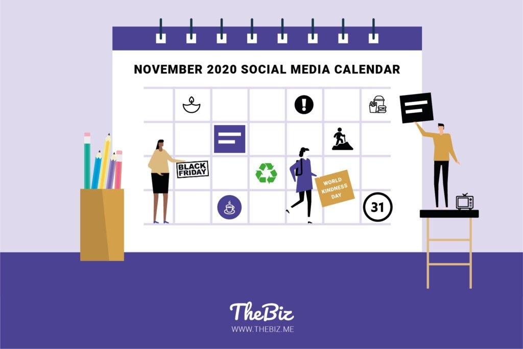 November Social Media Calendar + Post Ideas For Businesses throughout No Frills Honor Calendar