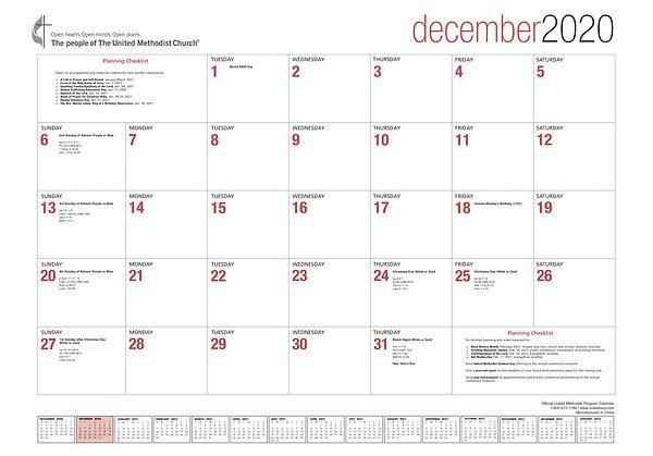 Official United Methodist Program Calendar 2021 Desk Blotter regarding United Methodist Parament Calendar Graphics