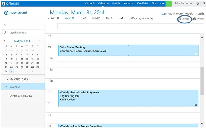 Outlook Web App Provides More Efficient Calendar Delegation intended for What Do Limited Calendar Details Look Like