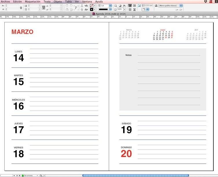 Pin En Descarga Plantillas Indesign, Illustrator & Html with regard to Agenda De Trabajo Gratis