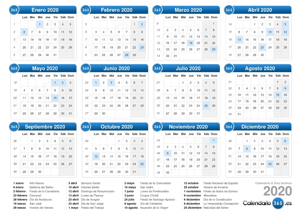 Pin En Lobos pertaining to Calendario Con Numeros De Semana 2020 Graphics