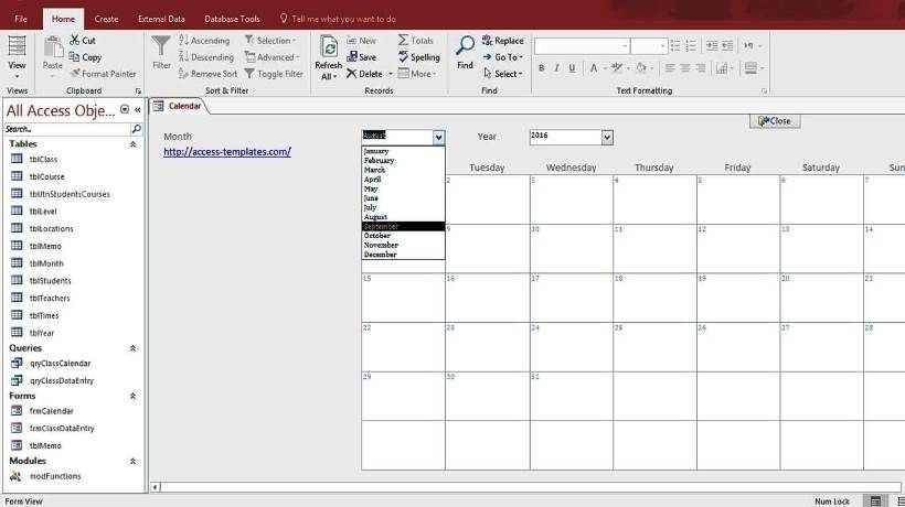 Pin On Access Database Templates 2016 in Microsoft Access Schedulin/Calender  Templates Graphics