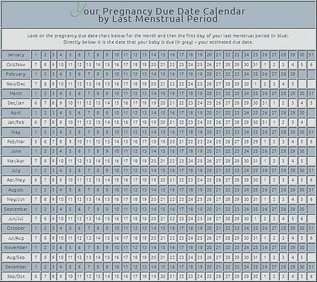 Pin On All Things Babies with Baby Due Date Calender Graphics