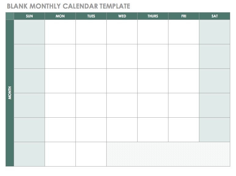 Pin On Business Template pertaining to Large Block Printable Monthly Calendar